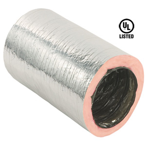 Insulated Flexible Air Duct HVAC R6 Silver Ventilation Jacket 7 in x 25 ft New